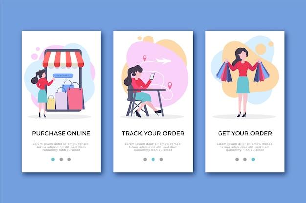 Online-onboarding-app-bildschirme kaufen