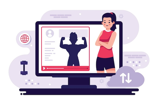 Online personal trainer am computer