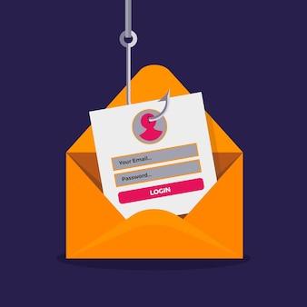 Online-phishing-konto für identität stehlen
