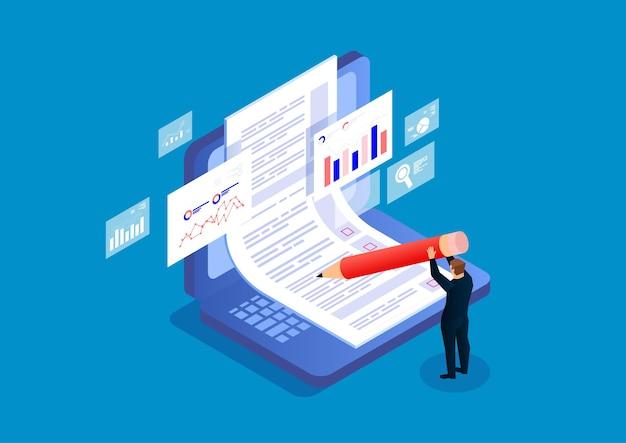 Online-prüfungsfragebögen online-rekrutierung stockillustration