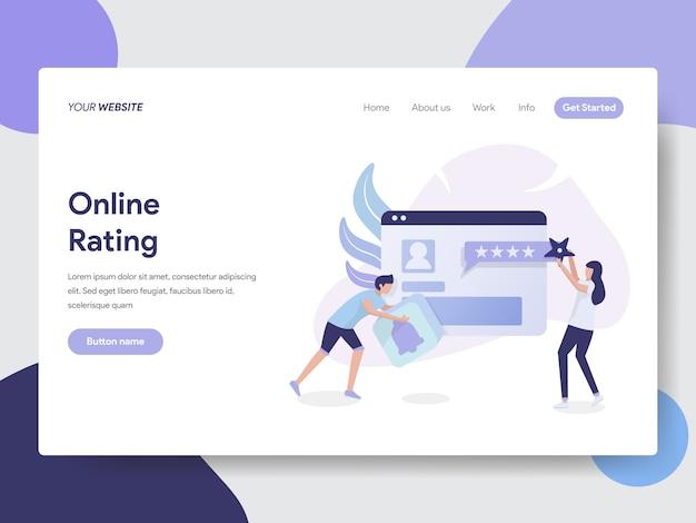 Online rating illustration für website seite