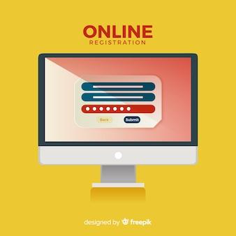 Online-registrierungskonzept