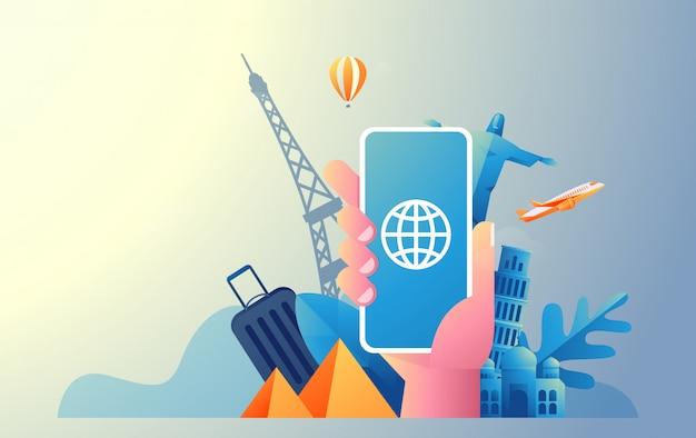 Online-reise-illustration