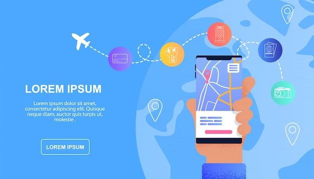 Online-reiseservice für touristen
