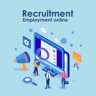Online-rekrutierung. personalmanagement