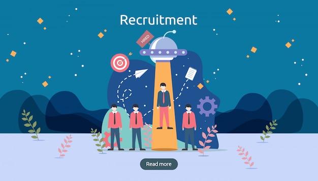 Online-rekrutierung.