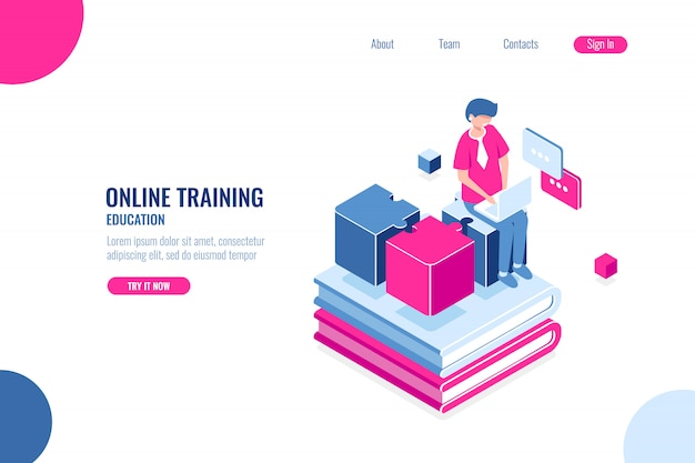 Online-schulung, ausbildung