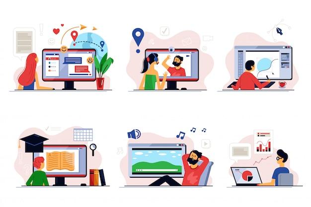 Online-schulung und fernunterricht