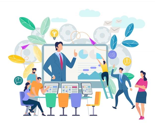 Online-schulungsworkshop und visualisierung von kursen