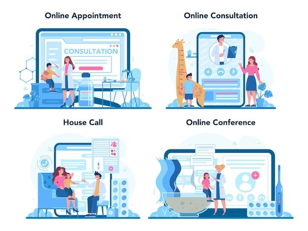 Online-service für kinderärzte oder plattformset
