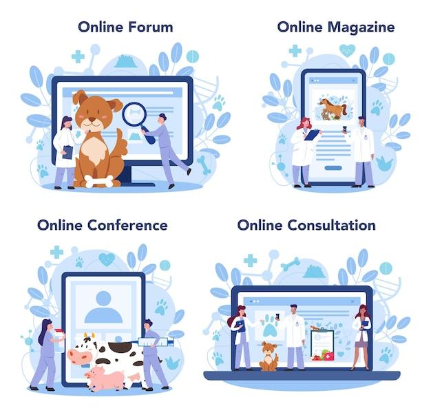 Online-service für tierärzte oder plattformset