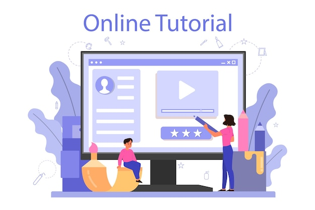 Online-service oder plattform der kunstschule