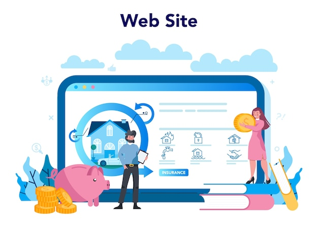 Online-service oder plattform des versicherungsagenten