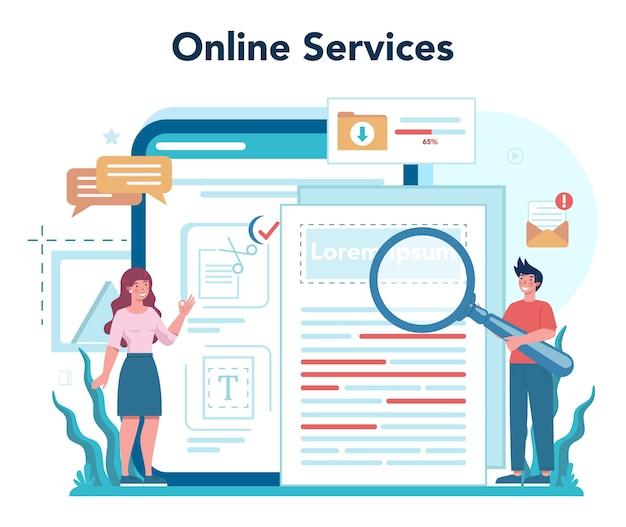 Online-service oder plattform des zeitschrifteneditors