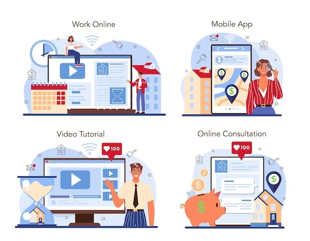 Online-service oder plattform für die immobilienbranche mit qualifizierten immobilien