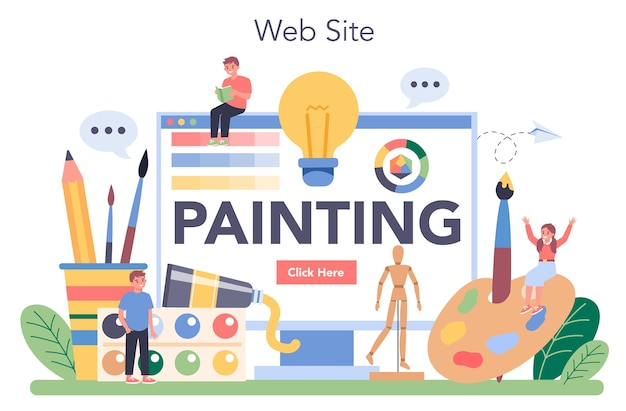Online-service oder plattform für die kunstschulbildung.