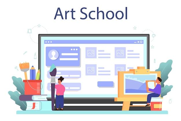 Online-service oder plattform für die kunstschulbildung