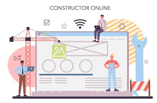 Online-service oder plattform für die website-entwicklung. support- und entwicklungsservice.