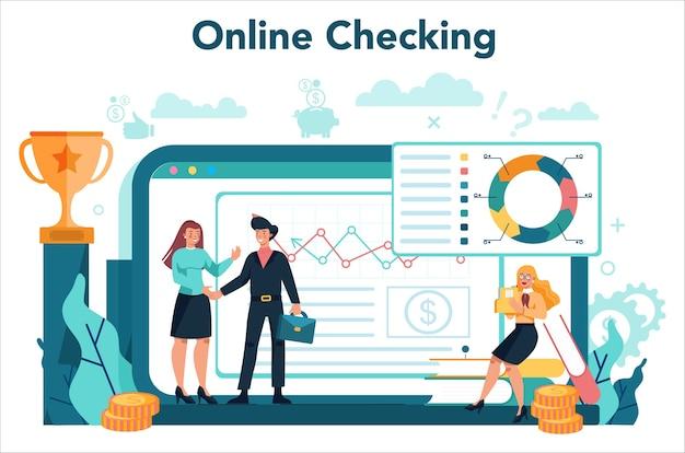 Online-service oder plattform für finanzanalysten oder berater.