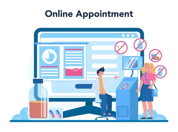 Online-service oder plattform für gastroenterologie-ärzte
