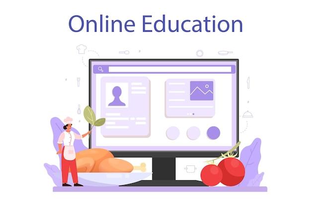Online-service oder plattform für köche oder kulinarische spezialisten