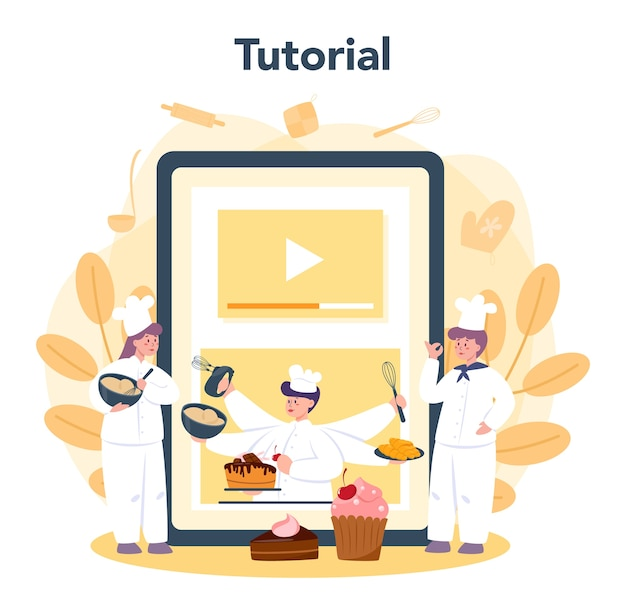 Online-service oder plattform für konditoren