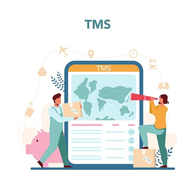 Online-service oder plattform für logistik und lieferservice