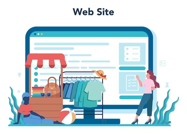 Online-service oder plattform für merchandiser speichern