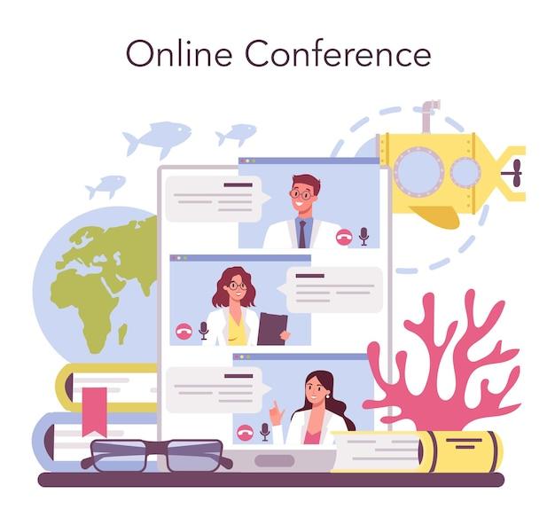 Online-service oder plattform für ozeanologen