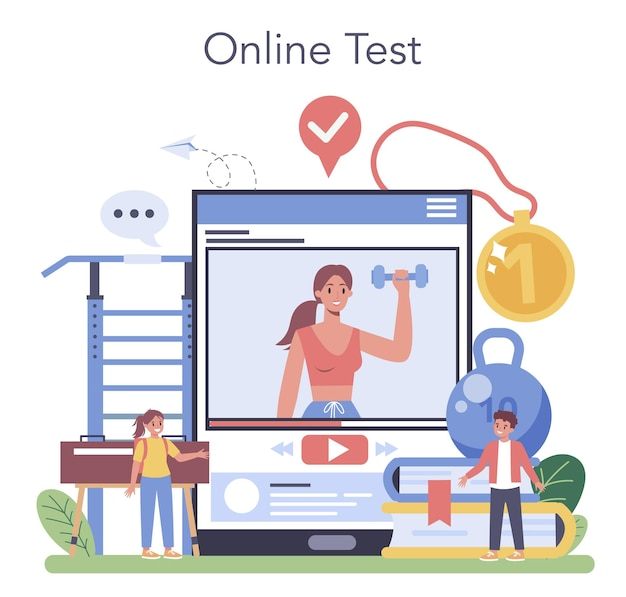 Online-service oder plattform für sportunterricht oder schulsport