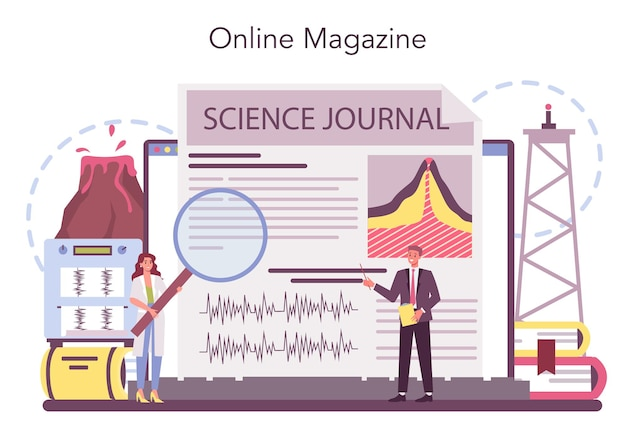 Online-service oder plattform für vulkanologen