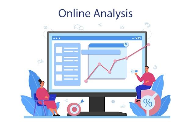 Online-service oder plattform für website-analysten