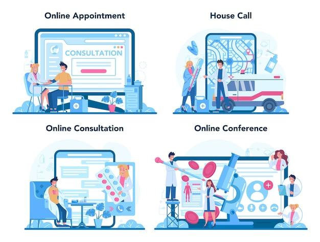 Online-service oder plattformset für ärzte oder allgemeine ärzte