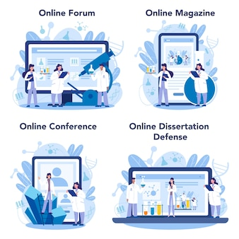 Online-service oder plattformset für chemiker