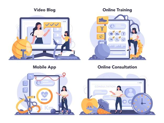 Online-service oder plattformset für schlankheitsspezialisten