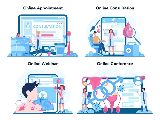 Online-service oder plattformset für venerologen