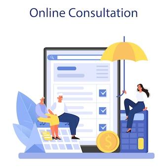 Online-service oder plattformspezialist für pensionskassenmitarbeiter hilft