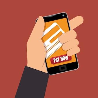 Online-shop einkaufen illustration