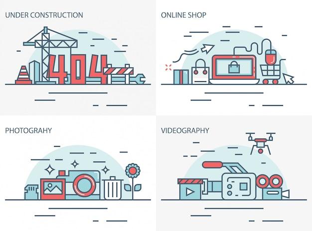 Online-shop, fotografie und videografie