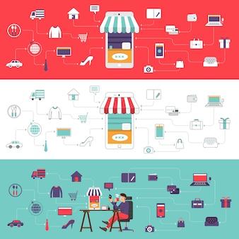 Online-shop für digitales marketing