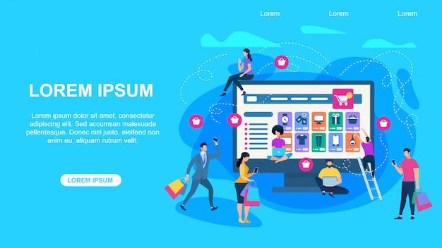Online-shop horizontale banner mit textfreiraum.