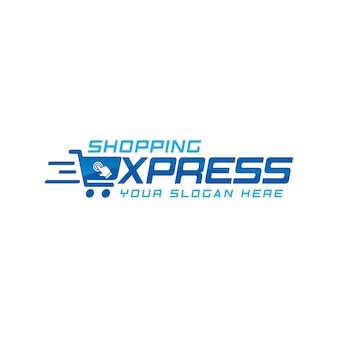 Online-shop logo vektor