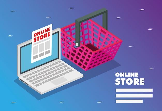 Online-shop mit laptop