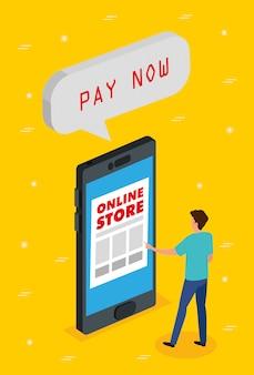 Online-shop mit smartphone