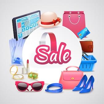 Online shop runde zusammensetzung