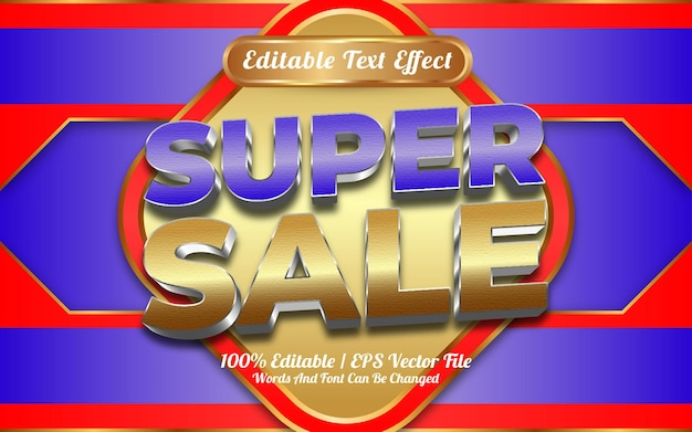 Online-shop super sale bearbeitbarer texteffekt-vorlagenstil