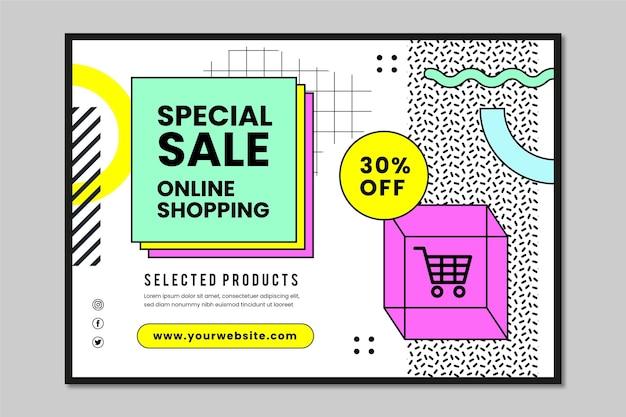 Online-shopping-banner mit rabatt