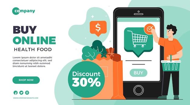 Online-shopping-banner-vorlage