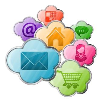 Online-shopping & cloud-computing-konzept