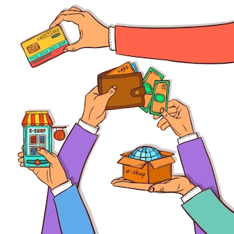 Online-shopping-design-konzept